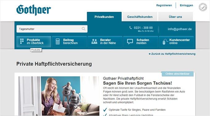 Gothaer single versicherung gs