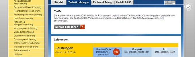 Beitrag der ADAC Autoversicherung berechnen