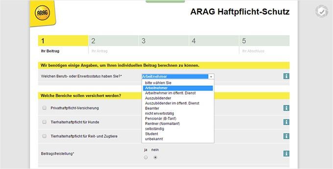 ARAG_Pferdeversicherung Beitrag