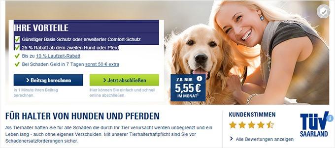 CosmosDirekt_Hundehaftpflicht Beitrag berechnen