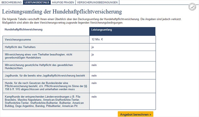 Deutsche Familienversicherung Hunde haftpflicht