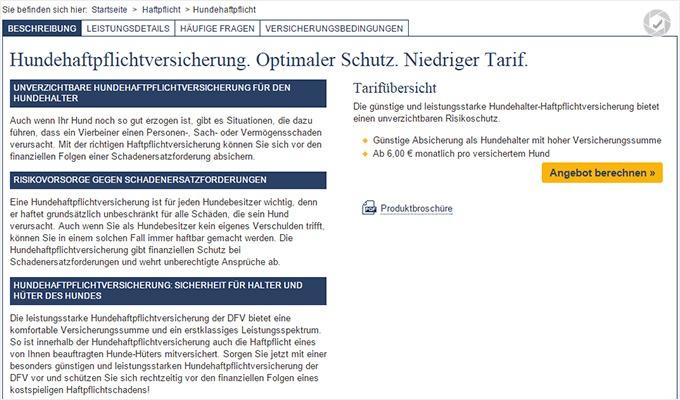 Deutsche Familienversicherung HundeHaftpflicht