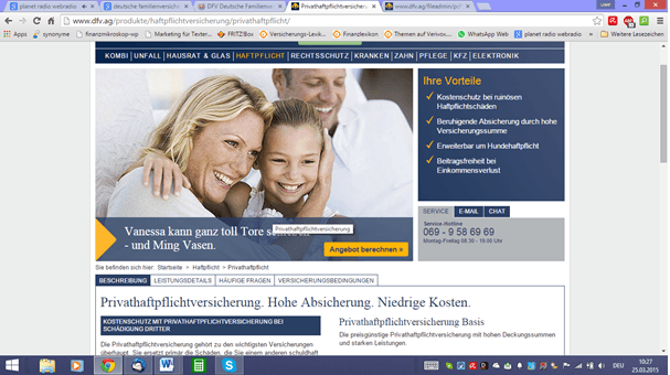 Deutsche Familienversicherung Haftpflichtversicherung