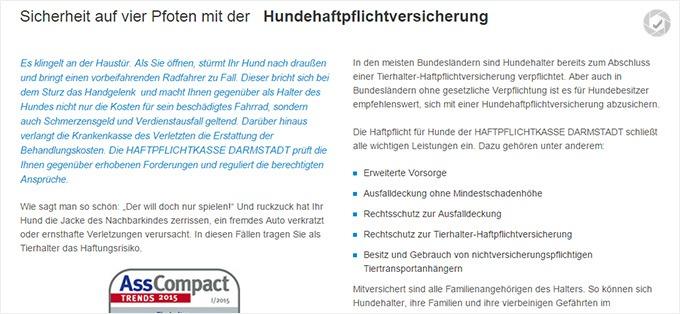 Haftpflichtklasse Darmstadt Haftpflichtversicherung für Hunde