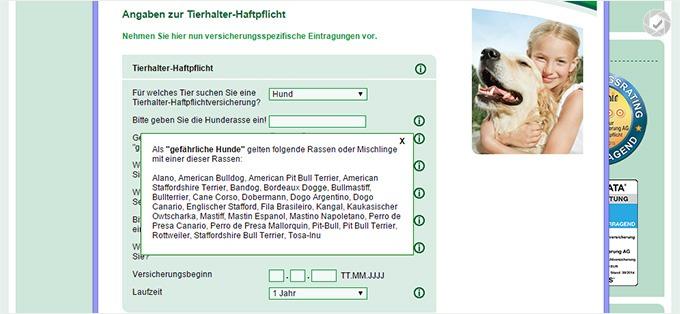 HanseMerkur Hundehaftpflichtversicherungen Details