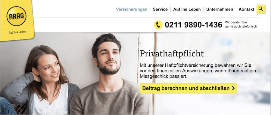 ARAG Privat-Haftpflicht Erfahrungen