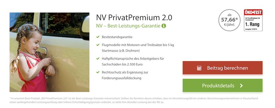 NV Versicherung PrivatPremium